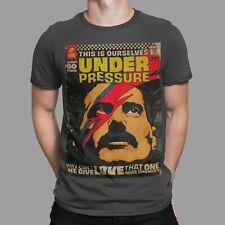 Under Pressure T-Shirt Queen Freddie Mercury Face Retro Art Sex Symbol 70s TEE