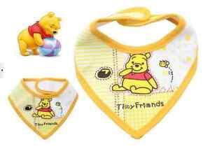PACK OF 2, NEW Baby Boy/Girl Bandana Bibs -Mickey Minnie Winnie - fits 0-3 years