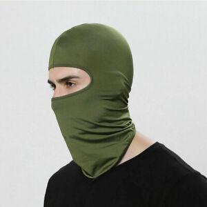 Outdoor Ski Motorcycle Cycling Balaclava Lycra Full Face Mask Neck Ultra Thin