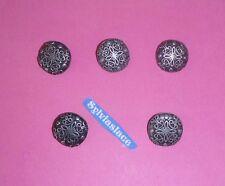 5    Black Silver   Colour    Metal   Shank   Buttons      20  mm      Wt 20 g