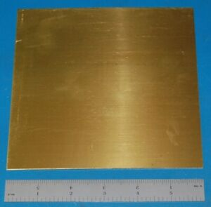 "Brass 260 Sheet, .040"" (1mm), 6x6"", Polished"