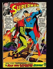 """Superman #205 ~ """"The Man Who Destroyed Krypton!"""" ~ (6.0) 1968 WH"""