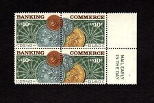 SCOTT # 1577-1578 Banking & Commerce Issue U.S. Stamps - Margin Block of 4