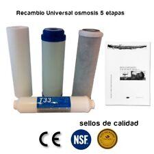 Recambio de Filtros Osmosis Universal 5 etapas