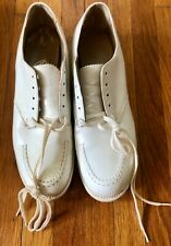 Vintage 1950's Dead Stock Barefoot Freedom White Nurse Shoes W/Original Box 5 Aa