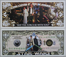 Set of 2 different fantasy Star Wars paper money Au-Unc.