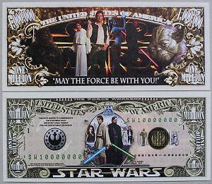 Set of 2 different fantasy Star Wars paper money Au-Unc