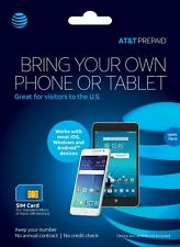 At&T Prepaid Starter Kit 4G Lte Sim Card for Standard, Micro or Nano Sim devices