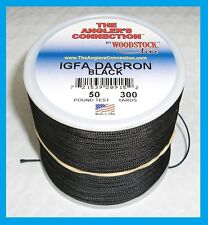 WOODSTOCK BRAIDED DACRON Fishing Line Black Color 50lb-300yd NEW! FREE USA SHIP!