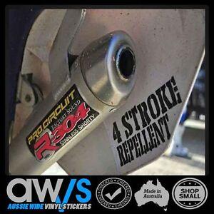 2 STROKE Sticker Decal 4 Stroke Repellent  Funny FOR Motocross Car  MX DIRTBIKES