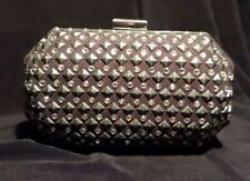 H&M Small Hard Rhinestones Studs Clutch With Chain Removable Strap