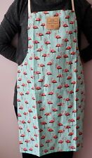 "New Home Concepts 19"" X 30"" Flamingo Bird Print Kitchen 100% Cotton Apron"