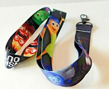Disney Lanyard Inside Out Black Trading Pin Cell Phone Key ID Attachment