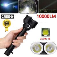 10000 Lumens 500m 5 Modes 2X XM-L T6 LED Adjustable Flashlight Torch Lamp Light