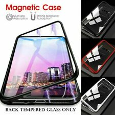 Case For Samsung Galaxy A10 A20 A40 A50 A70 Magnetic Edge Glass Back Phone Cover