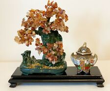 VINTAGE CHINESE OBLONG WOOD PLINTH WOODEN FIGURINE STATUE STAND 13 x 4 ins