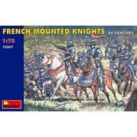 Miniart 72007 - 1/72 French Mountend Knights XV Century Plastic Figures Model
