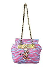 SS17 Moschino Couture Jeremy Scott Quilted Tiger Blue Purple Multi-color Shopper