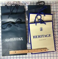 """Lot 7 Gift Bag Jewelry Store All Heritage Jewelers 8"""" By 10"""" Rochester NY  R1"""