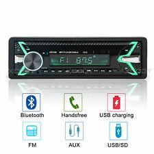 Single DIN Car Stereo Bluetooth MP3 Player FM Radio USB AUX TF 4 x60W Head Unit