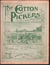 The Cotton Pickers 1899 Large Format Sheet Music