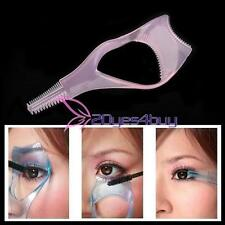 3in1 Eyelash Brush Curler Mascara Guard Applicator Tool Stencil Shield Guide V