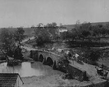 "Union Soldiers & Wagons at Antietam Bridge 8""x 10"" Civil War Photo Picture #44"