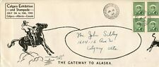 Calgary Stampede 1943 #10 cover with the Stampede PO & slogan cancels