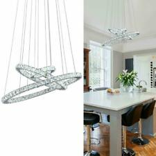 KAI Crystal Chandelier Island Pendant Light Contemporary Non Dimmable LED Lamp