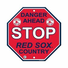 Fremont Die Consumer Products F60502 Styrene Stop Sign -boston Red Sox