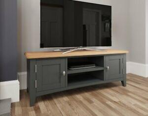 Oakland Painted Grey Oak Large TV Unit