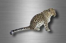 Autocollant sticker voiture moto decoration murale leopard savane animaux animal