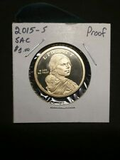 2015- S SACAGAWEA Golden Dollar!!! GEM GEM PROOF!!! NATIVE AMERICAN GOLD DOLLAR!