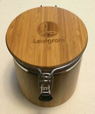 NEW Bamboo Kitchen Storage Jar Canister Tea / Coffee / Sugar 42oz