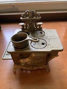 vintage eagle cast iron stove miniature small salesman sample