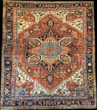 A Marvelous Antique Decorative Heriz Rug Circa 1920