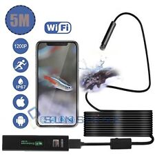 Waterproof 8LED Borescope WiFI Inspection Endoscope Tube Snake Camera For iPhone