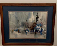Constance Pomeroy Signed Art Original Framed Watercolor Painting Impressionistic