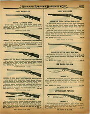 1926 PAPER AD 3 PG Benjamin Daisy King Quackenbush Pump Action Air Rifle BB Gun