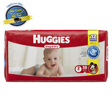 Huggies Snug and Dry Diapers Size 2 Baby Newborn 38 Count Disposable 4 Layers US