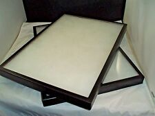 two jewelry display case riker mount collectors display shadow box 14X20 X 1 1/4