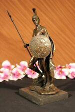 Bronze Sculpture Statue Marble Figure Bust Warrior Roman Sculpture Art Nouveau