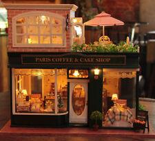 2016 New~Dollhouse Miniature- A-028, Paris Coffee & Cake Shop, two stories shop
