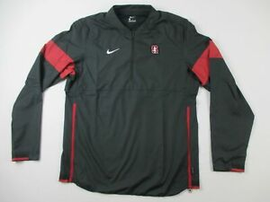 Stanford Cardinal Nike Pullover Men's Black Poly Used Multiple Sizes