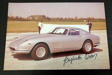 Rare Autographe Photo Scaglietti Ferrari 275 GTB Signed Not Copy