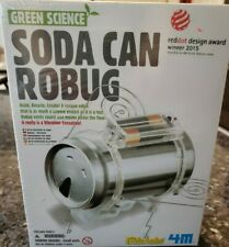 New 4M KidzLabs Green Science Soda Can Robug Science Kit SEALED Science Project