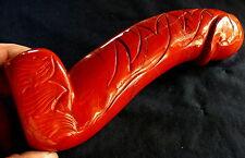 XL!! Roter Jaspis Skulptur Penis, 1199,6g 234x82x48mm Heilstein, Erotic