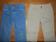 Girls blue jeans, khaki pants size 10 slim, lot of 2, Old Navy, *148