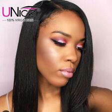 UNice 8A Brazilian Virgin Straight Hair 3 Bundles/300g Human Hair Wefts US Stock
