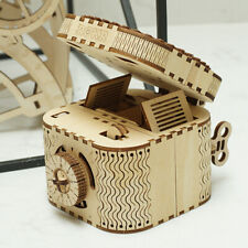 Robotime DIY Wooden Treasure Box Model Building Kits Educational Toy for Kids